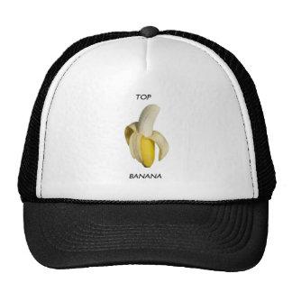 Plátano superior gorros bordados