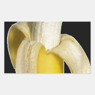 Plátano superior rectangular pegatina