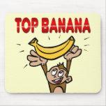 Plátano superior tapetes de ratón