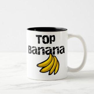 Plátano superior taza de café de dos colores