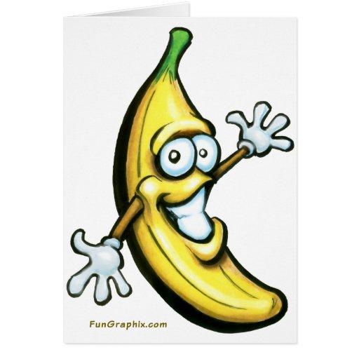 Plátano Tarjeta De Felicitación