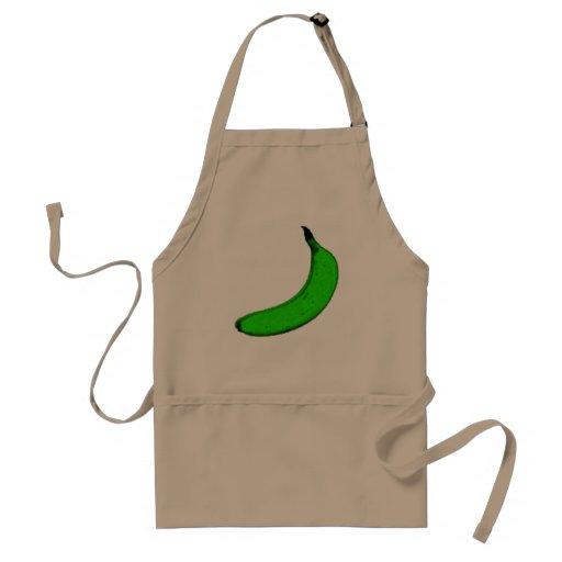 plátano verde delantal