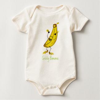 Plátano vertiginoso orgánico mameluco de bebé