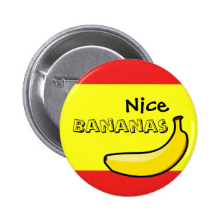 Plátanos agradables pin redondo 5 cm