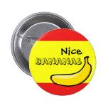 Plátanos agradables pin redondo de 2 pulgadas