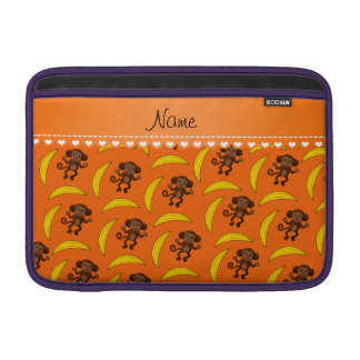 Plátanos anaranjados conocidos personalizados del funda  MacBook