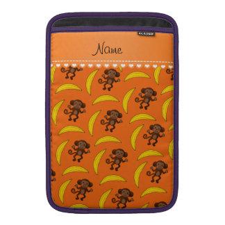 Plátanos anaranjados conocidos personalizados del funda para macbook air