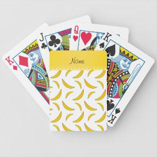Plátanos blancos conocidos personalizados barajas de cartas