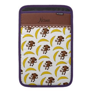 Plátanos blancos conocidos personalizados del mono fundas macbook air