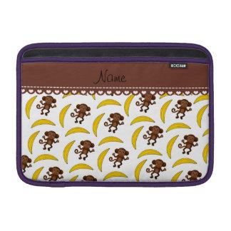 Plátanos blancos conocidos personalizados del mono funda  MacBook