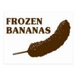 Plátanos congelados tarjetas postales