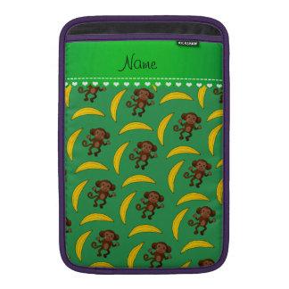 Plátanos conocidos personalizados del mono verde fundas para macbook air