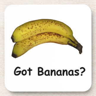 Plátanos conseguidos posavasos de bebida