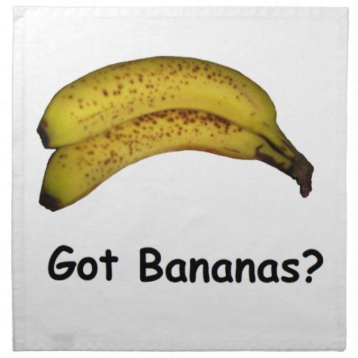 Plátanos conseguidos servilleta de papel