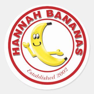 Plátanos de Hannah Pegatina Redonda