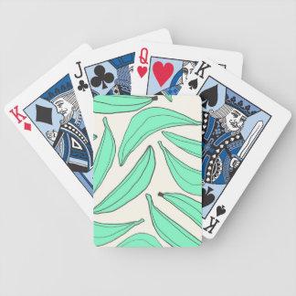 Plátanos de la menta de las tarjetas que juegan barajas de cartas