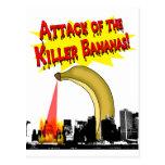 ¡Plátanos del asesino! Postal