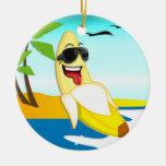 Plátanos del club - mercancía oficial adorno navideño redondo de cerámica