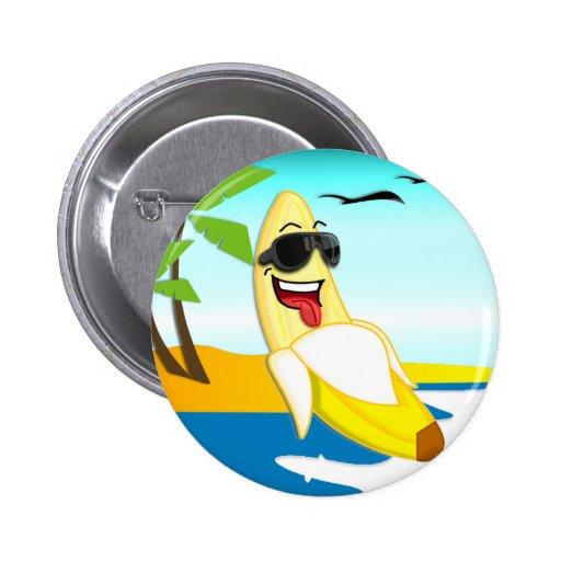 Plátanos del club - mercancía oficial pin redondo 5 cm