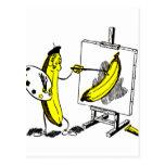 Plátanos del kitsch del vintage el artista del plá postales