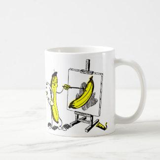 Plátanos del kitsch del vintage el artista del plá tazas