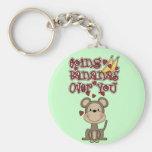 Plátanos del mono sobre usted camisetas y regalos llaveros