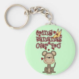 Plátanos del mono sobre usted camisetas y regalos llavero redondo tipo pin