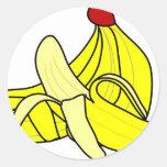 Plátanos Etiqueta Redonda