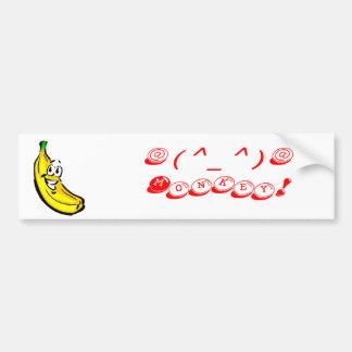 ¡plátanos, @ (^_^) @ mono! - Modificado para requi Pegatina Para Auto