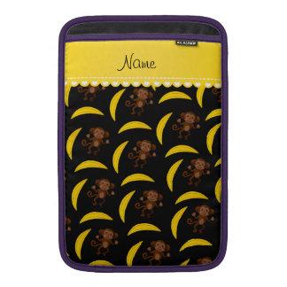Plátanos negros conocidos personalizados del mono fundas macbook air