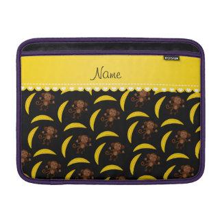 Plátanos negros conocidos personalizados del mono funda  MacBook