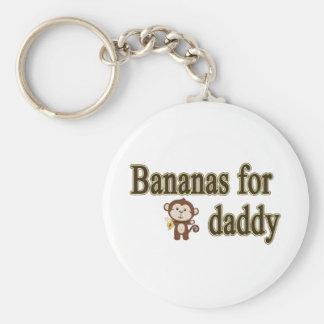 Plátanos para el papá llavero redondo tipo pin