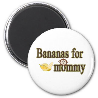Plátanos para la mamá imán redondo 5 cm