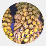 Plátanos para la venta en el mercado, Puerto Rico Pegatina Redonda