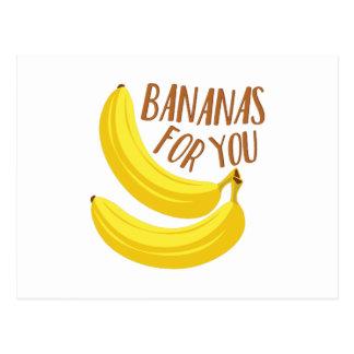 Plátanos para usted postales