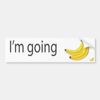 plátanos pegatina para auto
