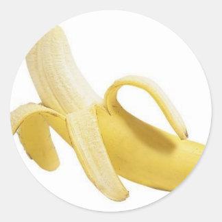 plátanos pegatina redonda