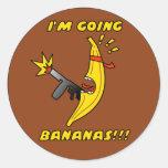 plátanos pegatinas redondas