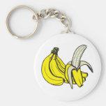 Plátanos: ¡Personalizable! Llavero Redondo Tipo Pin