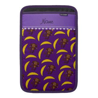 Plátanos púrpuras conocidos personalizados del fundas para macbook air