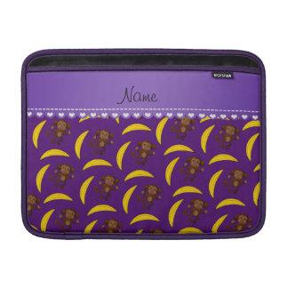 Plátanos púrpuras conocidos personalizados del funda macbook air