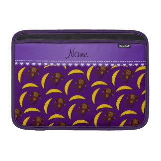 Plátanos púrpuras conocidos personalizados del fundas macbook air
