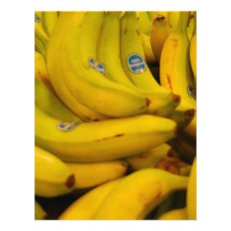 Plátanos que van plantillas de membrete