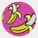 """Plátanos que van "" Pegatinas Redondas"