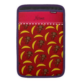 Plátanos rojos conocidos personalizados del mono funda para macbook air