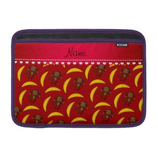 Plátanos rojos conocidos personalizados del mono fundas macbook air