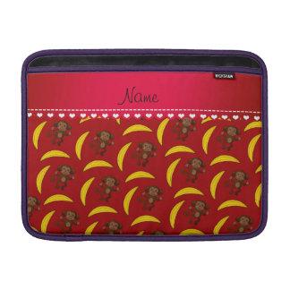 Plátanos rojos conocidos personalizados del mono funda  MacBook