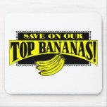 Plátanos superiores alfombrilla de ratón