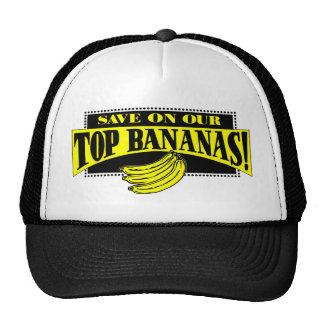Plátanos superiores gorro de camionero