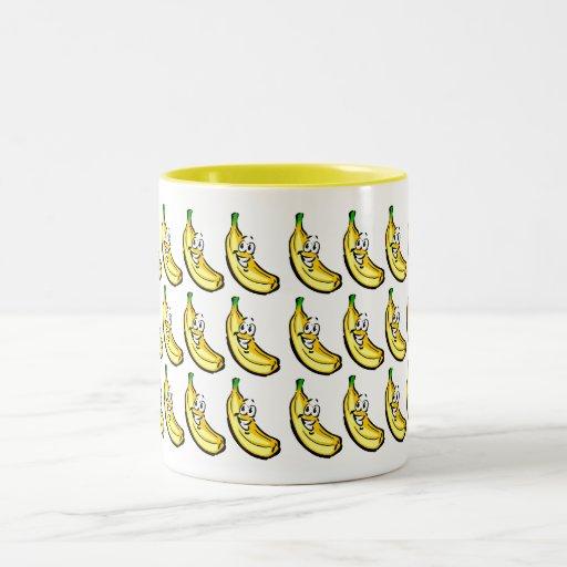 Plátanos Taza De Dos Tonos